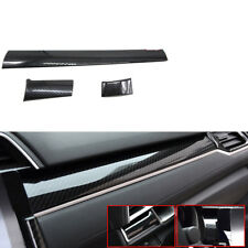 For Honda Civic 2016-2017 3x Carbon Fiber Style Center Control Panel Trim Cover