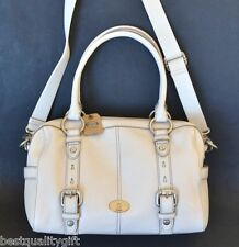 NEW FOSSIL MADDOX WHITE LEATHER SATCHEL,CROSSBODY,HAND+SHOULDER BAG,PURSE