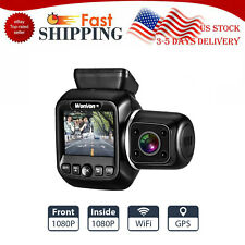 Dual Lens 1080P 30Fps Gps WiFi Car Dash Cam Front And Inside Recorder Taxi Lyft