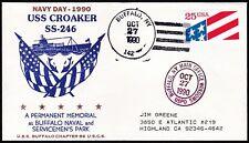 US  Navy Postal Cover - SS246  USS Croaker - Memorial Buffalo N.Y.  -  B6500
