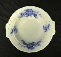 Vintage Johnson Brothers Mentone Royal Flow Blue Round Bowl for Butter Dish