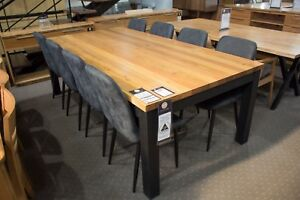 Roseville - 2400mm Solid Messmate Dining Table with 8 Dining Chairs
