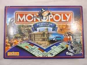 Monopoly Birmingham Edition Hasbro 2000 Board Game Complete