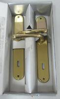 Maniglia doppia x porta placca foro chiave 90 realizzato in ottone lucido 254
