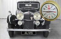 Wall Clock in the style of Alvis Cars, 1930's Bakelite Retro Replica Clock.