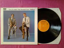 Rare LP 33T / Paul Desmond / Gerry Mulligan – Two Of A Mind / 7311/ VG+