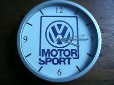 VOLKSWAGEN MOTORSPORT pendule murale horloge 20cms golf gti rallye Oettinger 16s