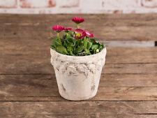 """Vaso per piante"""" ROSES """" 12.5 cm, ceramica beige, vintage stile antico, da fiori"""