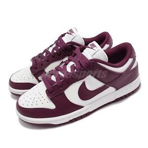 Nike Wmns Dunk Low Bordeaux Red White Women Casual Lifestyle Shoes DD1503-108
