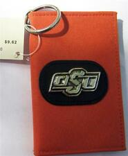 OSU Oklahoma State Cowboys NWT wallet. Velcro closure.  silver concho key chain