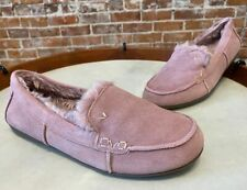 Vionic Mauve Pink Suede Corinne Indoor Outdoor Orthodic Slipper Loafer New