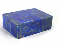 "BUTW Hand Crafted Afghan Lapis Lazuli  3 7/8"" Jewelry Box Gorgeous Color 1289K"