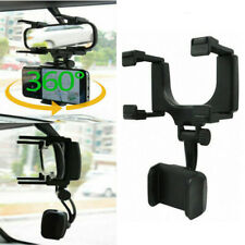 Universal Car Rearview Mirror Mount Stand Holder Cradle 360° for Cell Phone GPS