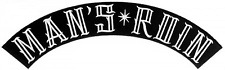89078 Man's Ruin Black & White Rocker Biker Punk Arch Embroidered Iron On Patch