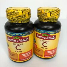 Nature Made Chewable Vitamin C - 2 Bottle Set 500 mg  immune support 120 count