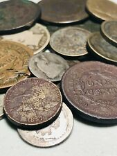 HUGE Us Type Coin Lot 1800s Eagle Large Cent Seated Liberty Silver CC DATES A130