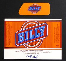 Falls City Brewing BILLY BEER label KY 12oz