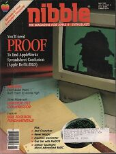 nibble magazine May 1989 AppleWorks, Proof, Bridges w/ML VG 010416DBE