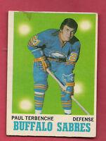 1970-71 OPC  # 123 BUFFALO SABRES PAUL TERBENCHE  CARD