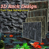 2x 3D Aquarium Foam Rock Background Backdrop Fishes Tank Reptile Reptile Marine