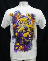 Los Angeles Lakers Men's White Marvel Comic Short Sleeve T-Shirt NBA S - 3XL