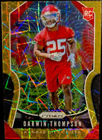 🔥 2019 Panini Prizm DARWIN THOMPSON RC Gold Laser Refractor NFL Orange Chiefs