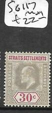 MALAYA STRAITS SETTLEMENTS (PP3110B) KE  30C  SG 117   MOG