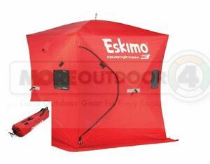69143  Eskimo QuickFish 3 Man Ice Shelter Ice Fishing Shanty Portable Tent Shack