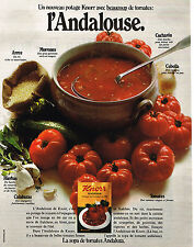 PUBLICITE ADVERTISING 084  1972  KNORR  soupe ANDALOUSE
