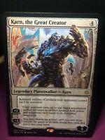 MTG Magic Card Rare War of the Spark #1 Karn, the Great Creator Mint 💎✔🔎