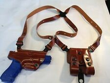 Galco Miami Classic Shoulder Holster, Right Tan Glock 9mm & .40 # MC224