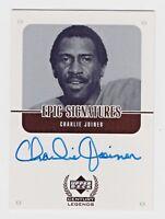 1999 Upper Deck Century Legends Epic Signatures Charlie Joiner Chargers NFL HOF