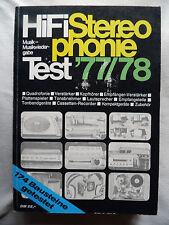 HIFI STEREOPHONIE TESTJAHRBUCH 77,TEAC A 3340S,SONY TC 510 2,B&M 5,SANSUI AU9900