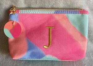 Initial J - Tie-dye - Cosmetics Bag / Pencil Case - Brand New