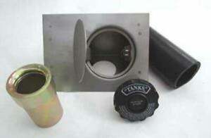 Tanks Inc. Fuel Filler Door Kit w/ Flat Face, 45 Degree Angled Enclosure FFD-A