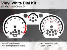 Vauxhall Corsa D (2006 - 2014) - 120mph / 8000rpm - Vinyl White Dial Kit