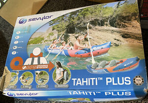 Sevylor 2+1 3 Person Tahiti Plus Inflatable Kayak Watersports Canoe