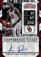 2020-21 Contenders Draft Conference Ticket #117 KRISTIAN DOOLITTLE RC Auto /99