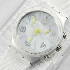 swatch irony chrono bianco ray of light white ycs4051 aluminium orologio uomo