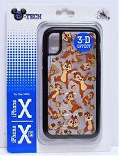 Disney Parks Exclusive Chip & Dale 3D Effect Apple Iphone 10 X/XS Cellphone Case