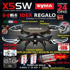 Drone SYMA X5SW FPV HEADLESS CAMERA HD real time WiFi 2 BATTERIE + RICAMBI 2018