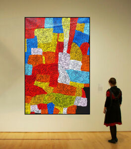 HUGE 140cm by 92cm Dot Painting, Original Abstract Contemporary Art