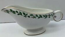"Vintage Hall China Dinnerware Rose Mary Dunbar Gravy Boat 9"" Long 4.5 "" High"