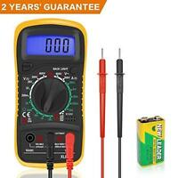 Digital Multimeter Car Voltage Battery LCD Electrical Meter with With Test Leads