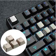 Keyset Zinc Alloy WASD Key Caps Light Transmission for Mechanical Keyboard MX