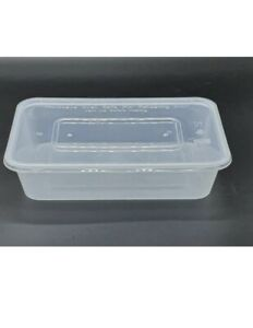 250 X C500 Plastic Food Containers & Lids Microwave & Freezer Safe Takeaway Meal