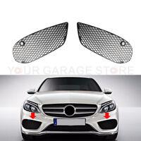 Vorne L&R Abdeckungen Gitter Stoßstange Für Mercedes Benz W205 ab 2014