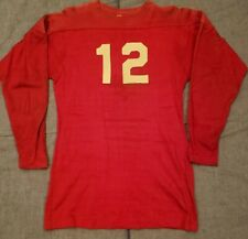 O'Shea Knitting Mills Football Game Used Wool Durene Jersey 1920s