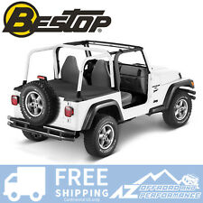 Bestop Duster Deck Cover 03-06 Jeep Wrangler TJ Black Diamond Factory Soft Top