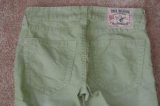TRUE RELIGION GENO CORDUROY Slim Stretch Jeans 30X30 NWT$249 Light Lime Green!